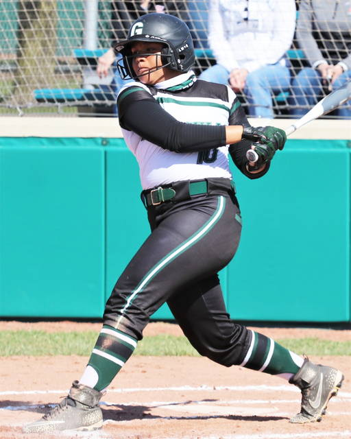 Greenville's Nyesha Wright leads off game with a home run in Lady Wave's 19-0 run rule MVL win over the Troy Lady Trojans.