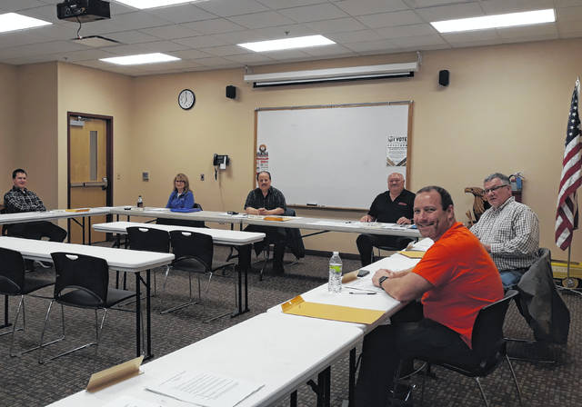 Village of Versailles Council members and administration discussed the swimming pool's anticipated opening and equipment purchases.
