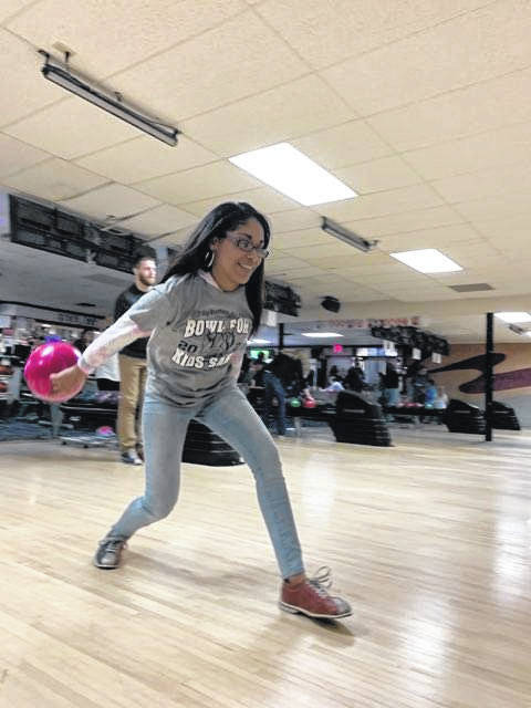 """Allynah Franklin of Sindey participated in Bowl for Kids' Sake on Saturday, March 6 with her team """"Media Wolf."""""""