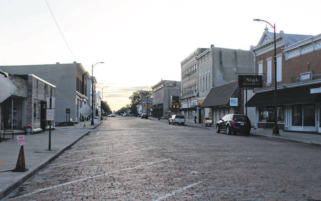 """George Street in Arcanum. """"Old Fashioned Days"""" is typically hosted at the beginning of May every year on George Street, and features food vendors, a car show, and live entertainment. The event has been canceled for 2021."""