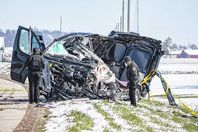 The driver of a Dodge cargo van was pronounced dead at the scene of a crash at U.S. Route 127 and Brown Road in York Township, Darke County, Wednesday morning. The identity of the driver is being withheld pending notification.