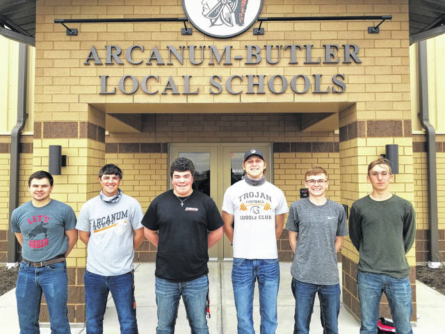 Arcanum Miami Valley Career Technology Center (MVCTC) FFA members recently competed in the Ohio FFA Farm Business Management Contest. Farm Business Management Team Members Blayne Hess, Brody Williams, Isaac Smith, Cael Gostomsky, Landon Haney and Caleb Hartman.