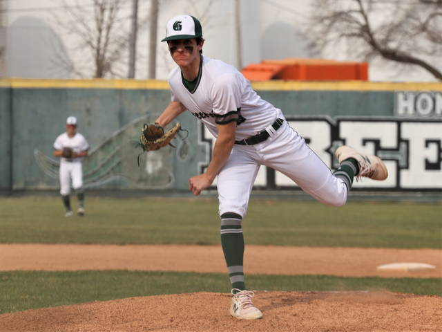 Alex Kolb pitches six strong innings for Greenville in the Wave's Miami Valley League win over the Skyhawks.