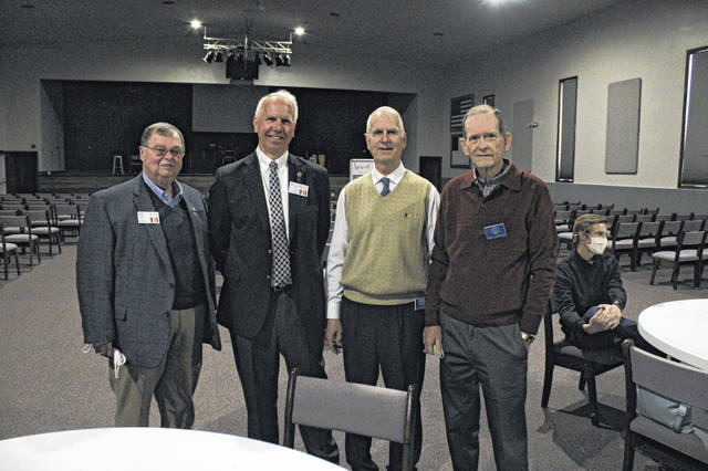 Assistant District Governor Stan Evans, District Governor Greg Birkemeyer, Ben Studabaker and Ray Laughlin (shown, left to right) were among attendees at the Greenville Rotary Club's 100th anniversary celebration.