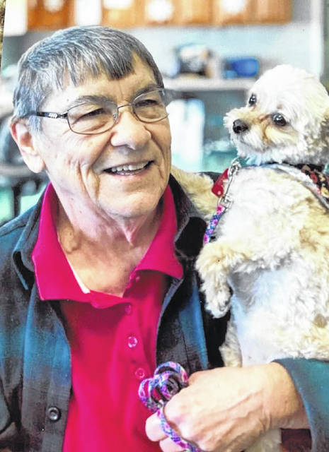 Longtime Darke County Humane Society leader Judith Francis, pictured with her dog, Lucy, served on the Darke County Humane Society Board for 20 years.
