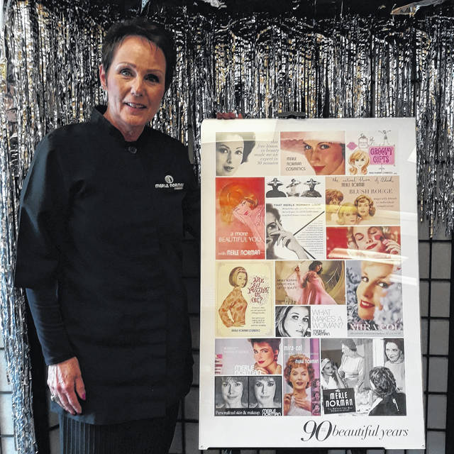 Pam Sharp (pictured), owner of Greenville's downtown Merle Norman Cosmetics studio, located at 309 S. Broadway, poses to celebrate the 10th Anniversary of her business. In addition, Merle Norman Cosmetics is also celebrating its 90th Anniversary in 2021.