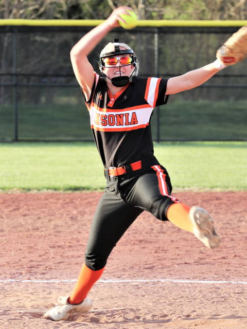 Ansonia's Lauren Burns picks up a win in the Lady Tigers win over Tri-Village.