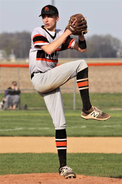 Logan Todd pitches six strong Arcanum innings to earn a win over the Ansonia Tigers.