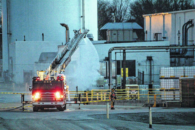 A chemical incident at BASF Corp. in Greenville prompted a serious emergency response on Wednesday evening.