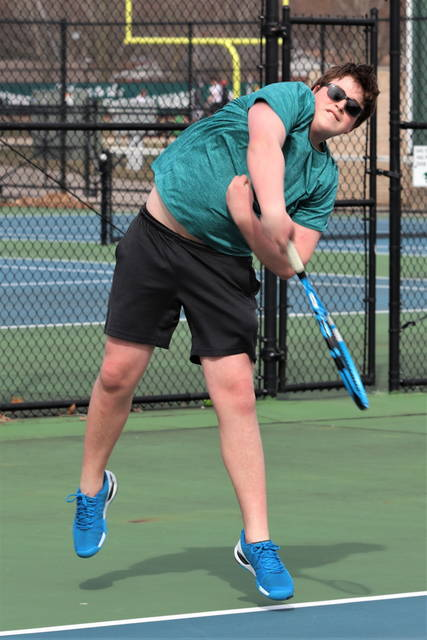 Greenville second doubles tennis player Andrew Abell.