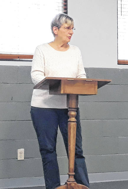 Darke County Auditor Carol Ginn (pictured) addressed the Darke County Republican Women's Club at its May meeting, highlighting the role of the auditor's office in county government and business administration.