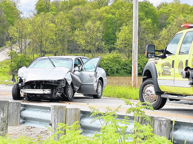 Two people were airlifted Monday to Miami Valley Hospital following a two-vehicle collision near New Madison.