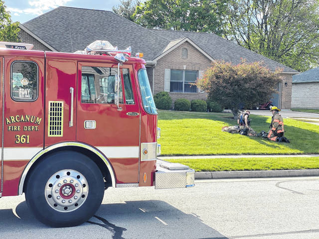 Arcanum Fire and Rescue responded along with mutual aid from the Pitsburg Fire Department and Arcanum Police to a house fire at the 100 block of Sierra Drive, Arcanum, Thursday afternoon.