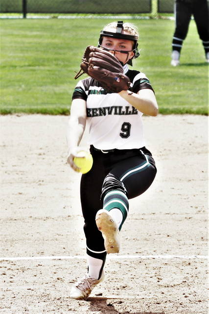 Grace Shaffer throws a 2-0 shutout OHSAA Regional win over the Springfield Shawnee Lady Braves.