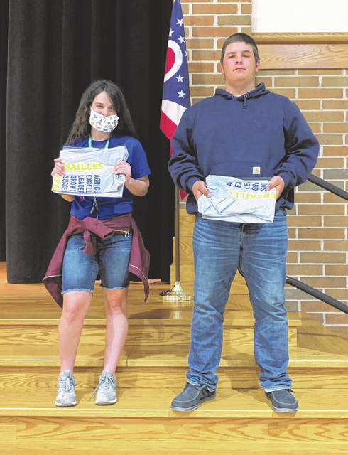 Abby Petitjean and Austin Nerderman were named as April Versailles FFA members of the month.