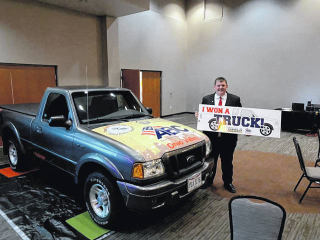 MVCTC student and Versailles High School senior Nicholas Didier was the winner of a truck and $1,000 scholarship.