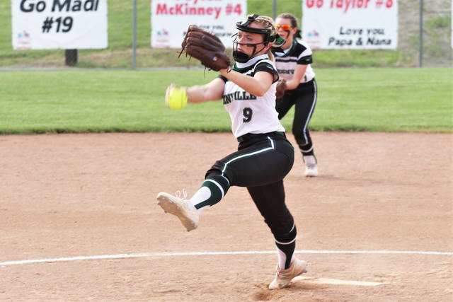 Grace Shaffer throws a 3-hit shutout over the Hamilton Ross Lady Rams in the Lady Wave's District Championship win over Hamilton Ross.