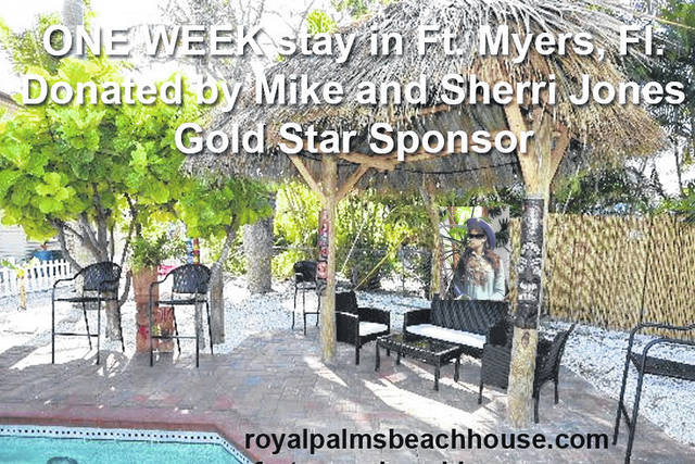 Among the items to be part of the G.A.L.A. auction is Royal Palms Beach House (drawing June 12), donated by Mike and Sherri Jones, and the 20-card uncut sheet of Versailles Tigers State Champions 1990. The first-ever card set of a high school football team in the USA. Bid on one sheet — 30 sheets available! This is one of the many sports memorabilia items donated by David Oliver that will be included in the Silent Auction part of Annie's G.A.L.A. event at Garst Museum. Stop by or call in to bid on the many intriguing G.A.L.A. items.