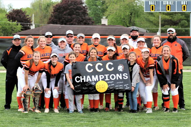 The Cross County Conference Champion Arcanum Lady Trojans.
