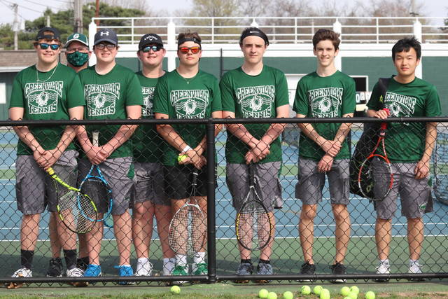 The 2021 Greenville varsity boys tennis team closes out regular season play with a 16-3 record.