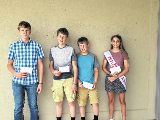 Junior Herdsman Award recipients are: first place: Lincoln Winner, second place: Roger Winner and third place: Russell Winner and Rose Barga.