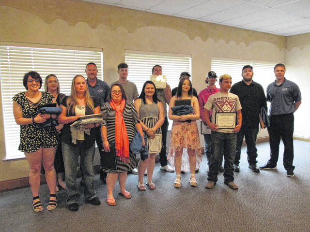 Jeff Vaughn Manager for the Achievement Center for Educational Success (ACES), congratulated the 17 high school graduates who completed their schooling through ACES on May 26.