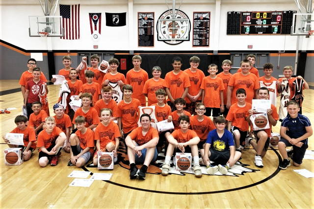 The 2021 Ansonia boys basketball campers