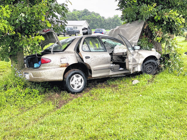 A driver suffered serious injuries following a head-on collision into a tree Wednesday morning. The cause of the wreck is still being investigated.
