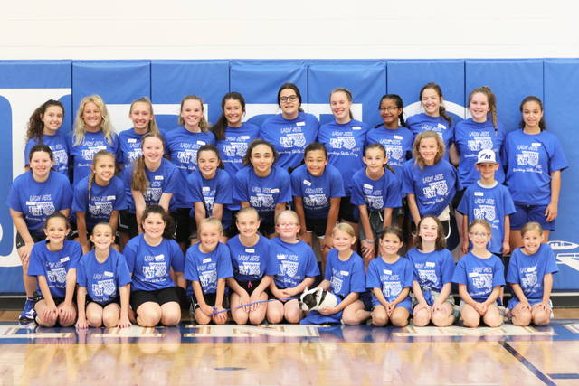 The Franklin Monroe Lady Jets basketball campers, helpers and coaching staff completes 2021 basketball camp.