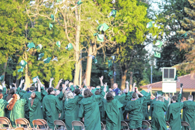 The GHS class of 2021 graduated on Saturday evening in front of a packed stadium.