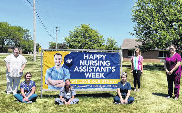 Versailles Rehabilitation and Healthcare Center, is honoring the vital role of its nursing assistants during the 44th annual National Nursing Assistants Week from June 17 to 24.