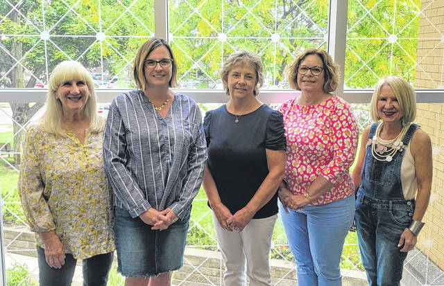 BBQ & Blues will take place on the Greenville Public Library Lawn, Friday July 9. Picutred are sponsors Angie Arnold, Becky Luce, Gail Overholser, and Susie Halley, Director of the Greenville Public Library with DCCA Executive Director Andrea Jordan.