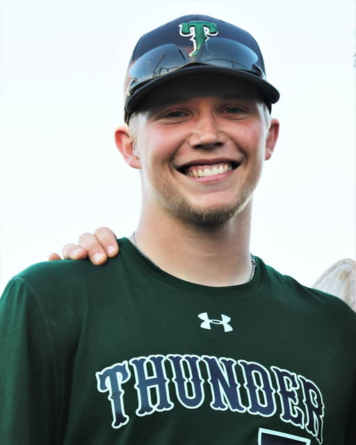 Greenville American Legion Post 140's Tyler Beyke pitches complete game shutout to defeat Sidney Legion.