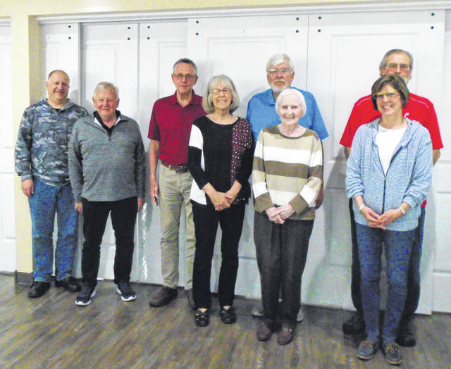 2021 Annie Oakley Golf Committee members (left to right:) Matt Arnold, Larry Ullery, Jack Sloat, Kay Sloat, Ed Curry, Kay Curry, Kent James, Lynn James. Not pictured are Angie Arnold, Scott Frens, Lisa Frens and Christine Lynn