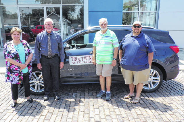 The Darke County Chamber of Commerce's 59th Annual Chamber Golf Outing will be held Aug. 2, at Stillwater Creek Golf Club. Pictured are Hole-In-One Sponsors are Dave Knapp Ford Lincoln, Hittle Buick GMC, and Troutwine Auto Sales.