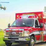 Driver airlifted after striking horse with car