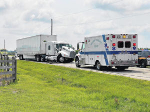 4-vehicle crash ends with driver airlifted