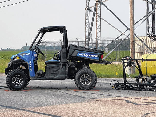 An Arcanum man was transported by CareFlight following an ATV accident Monday.