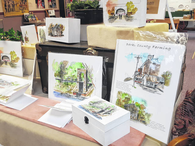 Artwork by Donald Mong, a former Greenville native, will be on display at the Garst Museum.