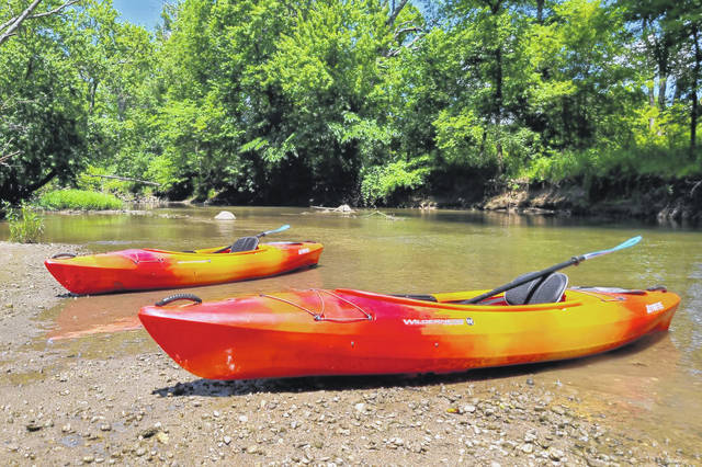 Starting Wednesday, July 14, kayak and canoe rentals will be offered by the Darke County Parks at the Bish Discovery Center, 404 N. Ohio Street, in Greenville.