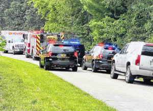 Motorcyclist CareFlighted after head-on collision