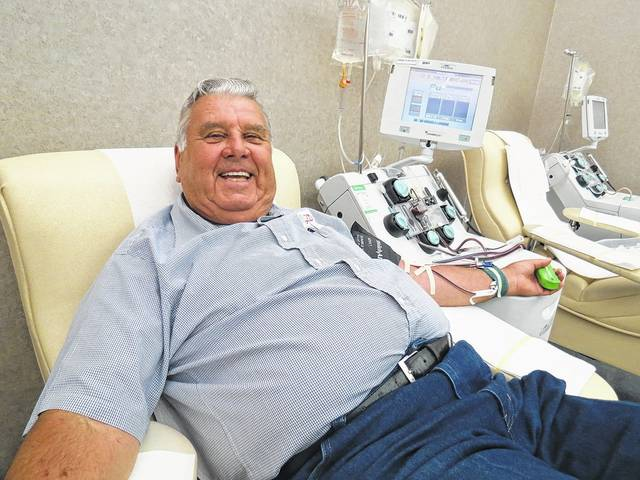 "Huber Heights resident Robert ""Bob"" Lutz recently made his 200th lifetime platelet donation at the Community Blood Cener."