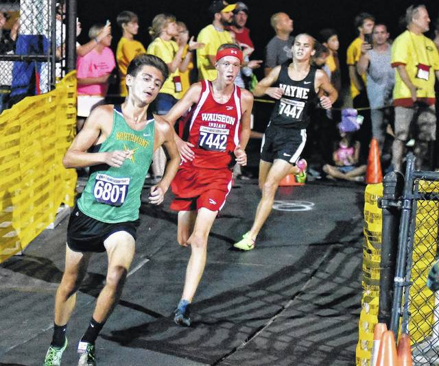<strong>Wayne junior Lucas Houk placed 20<sup>th</sup> in 16:15.9 at the Centerville Saturday Night lights cross country meet.</strong>