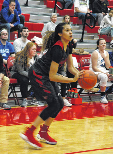 <strong>Olivia Trice prepares to bury a 3-pointer to give Wayne an early 3-0 lead.</strong>