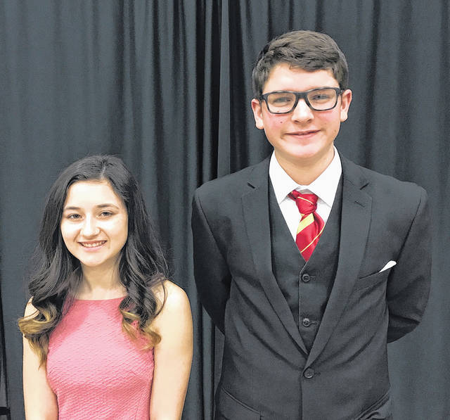Wayne High School freshman Sarai Combs and Weisenborn Junior High School seventh grader James Zbinden competed at the Montgomery County Science Day on Saturday. Both will compete at the West District Science Fair later this month.
