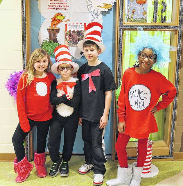 Students at Charles Huber Elementary School are celebrating Read Across America.
