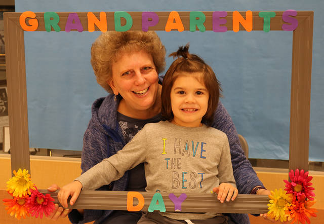Preschool students and their grandparents enjoyed Grandparent's Day at Studebaker Preschool.