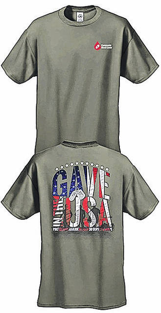 "Everyone who registers to donate blood at the Sulphur Grove UMC blood drive will receive the special edition ""Gave in the USA"" t-shirt, honoring the sacrifices of the nation's military members and blood donors."