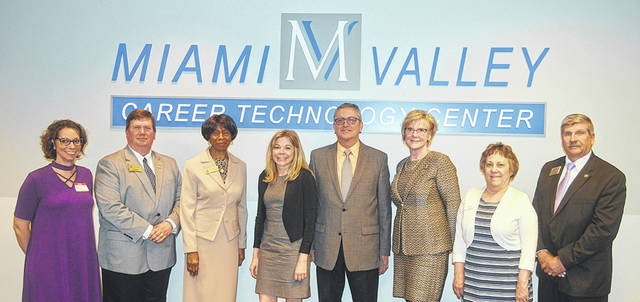 Members of the Northern Chamber Alliance met at the Miami Valley Career Technology Center on Wednesday for a Lunch and Learn covering the 2017 tax reform bill. Pictured left to right are Angie Dull, Membership Director Brookville COC; Will Roberts, President / CEO Vandalia Butler COC; Marie Battle, Executive Director, Trotwood COC; Maggie Sheely, Manager of Congressional & Public Affairs, US Chamber; Jeff McClain, Director of Tax & Economic Policy, Ohio Chamber; Constance R Woods, CPA Woods and Woods Associates, Vandalia; Cathy Hutton, CEO Northmont COC and Mark Bruns, Executive Director Huber Heights COC.
