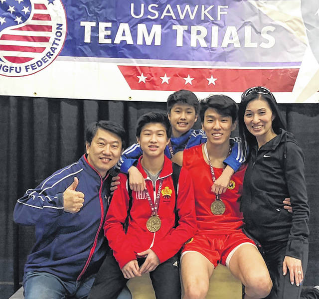 Competitors from Mengs Martial Arts International in Huber Heights had an impressive competition season. Pictured left to right are Benny Meng, Spencer Meng, Derikson Meng Vincent Meng, and Sunmi Meng.